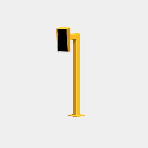yellow intercom bollard, car height
