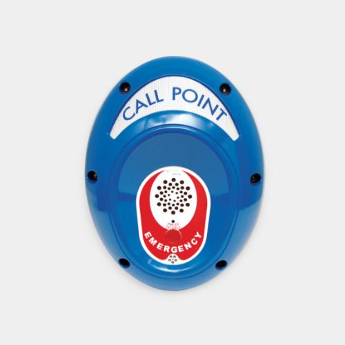 blue emergency help point unit, 1 button