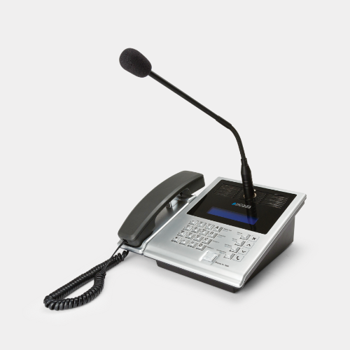 IP master station with gooseneck microphone and handset