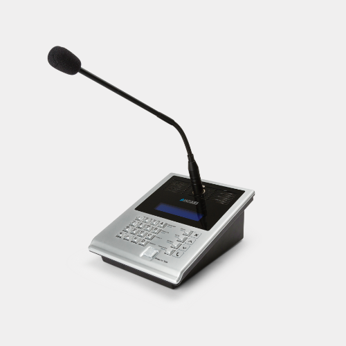 IP master station with gooseneck microphone