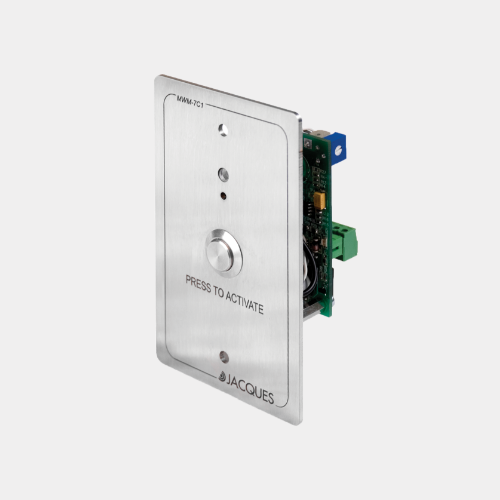 balanced line level output with button, surface mounted