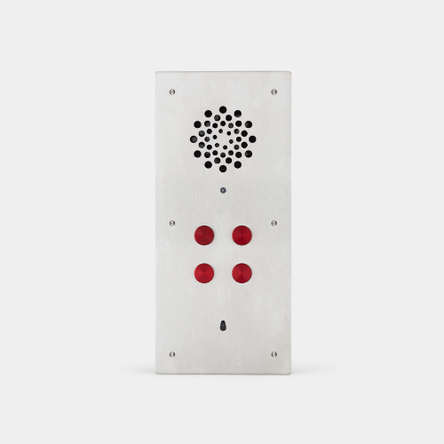 audio intetcom panel, 4 button