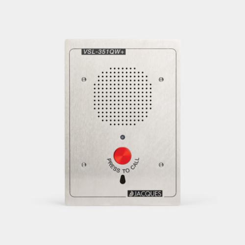 5 series audio intercom panel, weather resistant, anti-ligature, 1 button