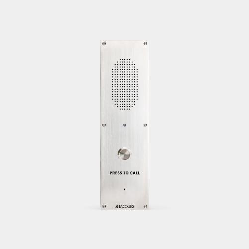 audio intercom terminal, one self-testing button