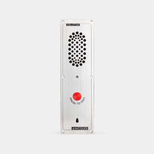 7 series audio intercom panel, weather resistant, 1 button